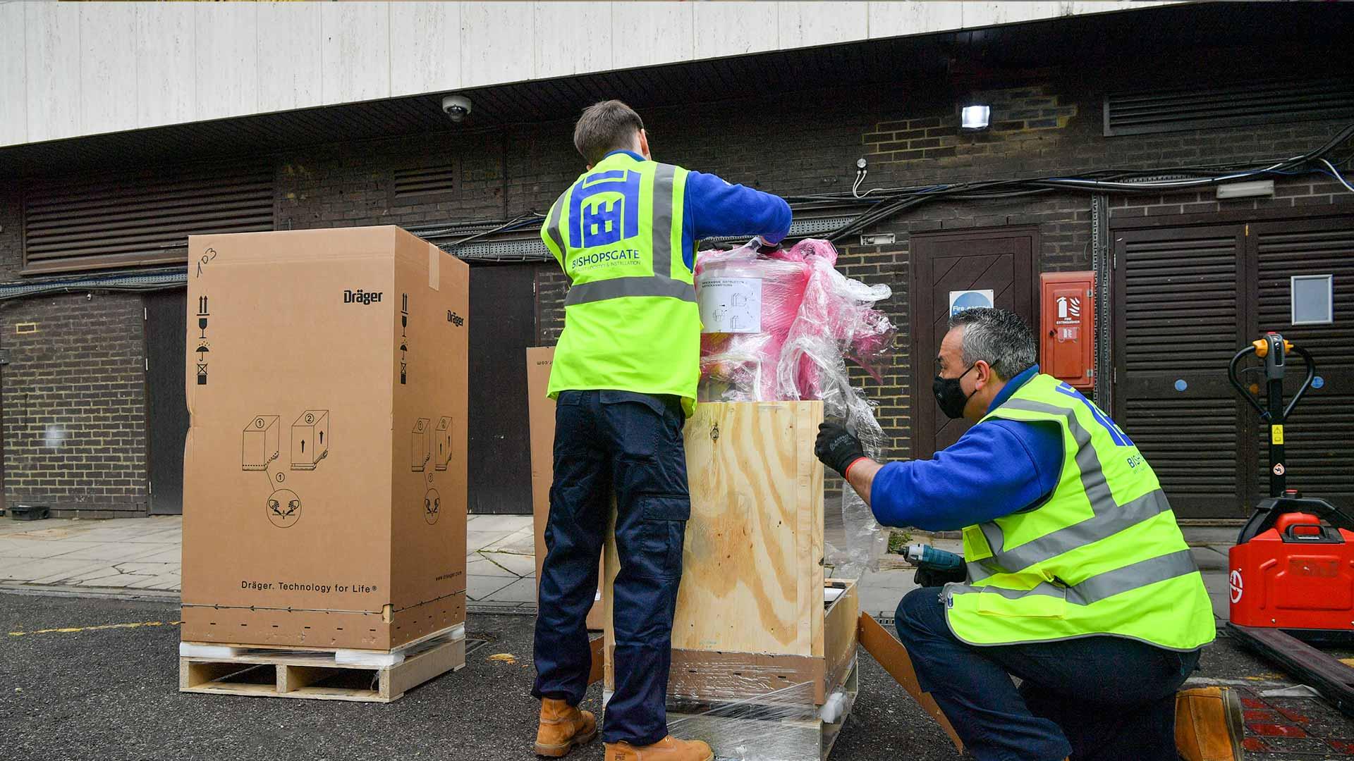 medical-equipment-unpacking